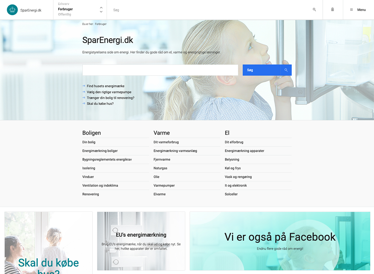 SparEnergi.dk's frontpage